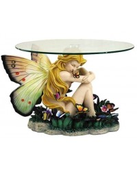 Field of Dreams Fairy Glass Topped Accent Table All Wicca Store Magickal Supplies Wiccan Supplies, Wicca Books, Pagan Jewelry, Altar Statues