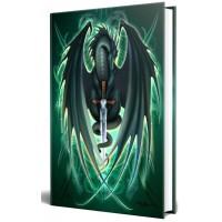 Dragon Skull Blade Embossed Journal