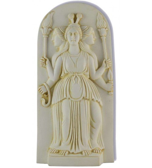 Hecate Triple Goddess Ivory Plaque at All Wicca Store Magickal Supplies, Wiccan Supplies, Wicca Books, Pagan Jewelry, Altar Statues