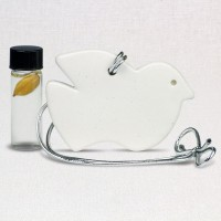 Dove Shaped Clay Oil Diffuser with Peace Oil