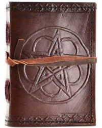 Pentagram Leather Pocket Size Journal All Wicca Store Magickal Supplies Wiccan Supplies, Wicca Books, Pagan Jewelry, Altar Statues