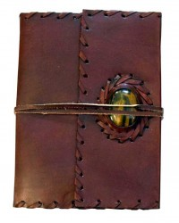 Leather Gemstone Blank Book With Cord - 7 Inches All Wicca Store Magickal Supplies Wiccan Supplies, Wicca Books, Pagan Jewelry, Altar Statues