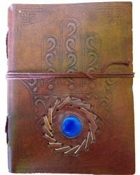 Hamsa Evil Eye Blank Book With Cord - 7 Inches All Wicca Store Magickal Supplies Wiccan Supplies, Wicca Books, Pagan Jewelry, Altar Statues