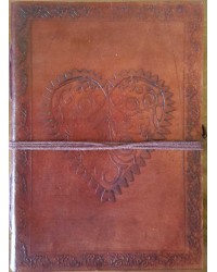 Heart Leather Journal All Wicca Store Magickal Supplies Wiccan Supplies, Wicca Books, Pagan Jewelry, Altar Statues
