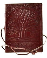 Sacred Oak Tree of Life Leather Journal with Cord All Wicca Store Magickal Supplies Wiccan Supplies, Wicca Books, Pagan Jewelry, Altar Statues