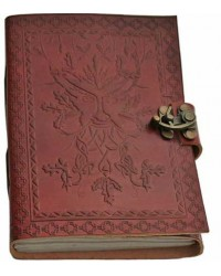 Greenman 7 Inch Leather Journal All Wicca Store Magickal Supplies Wiccan Supplies, Wicca Books, Pagan Jewelry, Altar Statues