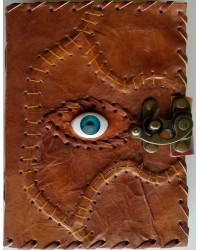All Knowing Eye Stitched Leather Journal with Latch All Wicca Store Magickal Supplies Wiccan Supplies, Wicca Books, Pagan Jewelry, Altar Statues