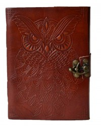 Owl Leather 7 Inch Blank Book with Latch All Wicca Store Magickal Supplies Wiccan Supplies, Wicca Books, Pagan Jewelry, Altar Statues