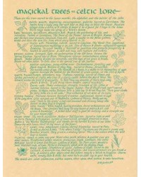 Magical Trees In Celtic Lore Parchment Poster All Wicca Store Magickal Supplies Wiccan Supplies, Wicca Books, Pagan Jewelry, Altar Statues