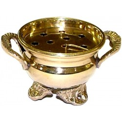 Brass Cauldron Incense Burner All Wicca Wiccan Altar Supplies, Books, Jewelry, Statues
