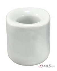 White Mini Taper Candle Holder All Wicca Store Magickal Supplies Wiccan Supplies, Wicca Books, Pagan Jewelry, Altar Statues