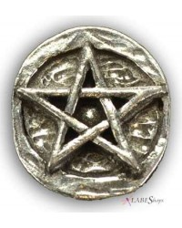 Pentagram Pewter Pocket Charm All Wicca Magickal Supplies Wiccan Supplies, Wicca Books, Pagan Jewelry, Altar Statues