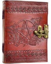 Pentagram Leather Journal with Latch All Wicca Store Magickal Supplies Wiccan Supplies, Wicca Books, Pagan Jewelry, Altar Statues