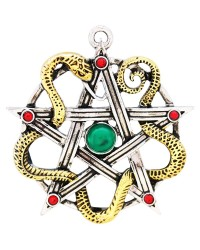 Sulis Minerva Serpent Pentagram Necklace All Wicca Store Magickal Supplies Wiccan Supplies, Wicca Books, Pagan Jewelry, Altar Statues
