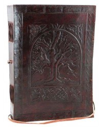 Tree of Life Leather 10 Inch Journal with Cord All Wicca Store Magickal Supplies Wiccan Supplies, Wicca Books, Pagan Jewelry, Altar Statues