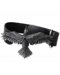 Black Consort Raven Leather Strap Bracelet All Wicca Store Magickal Supplies Wiccan Supplies, Wicca Books, Pagan Jewelry, Altar Statues