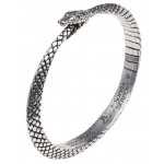 Sophia Serpent Ouroborus Pewter Bangle Bracelet