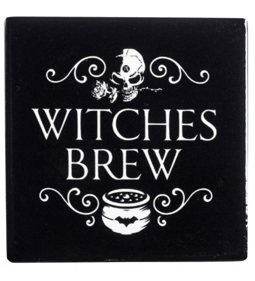 Witches Brew Ceramic Coaster at All Wicca Magical Supplies, Wiccan Supplies, Wicca Books, Pagan Jewelry, Altar Statues
