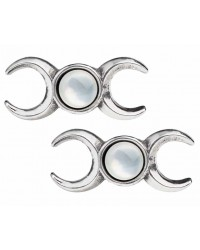 Triple Goddess Stud Earrings All Wicca Store Magickal Supplies Wiccan Supplies, Wicca Books, Pagan Jewelry, Altar Statues
