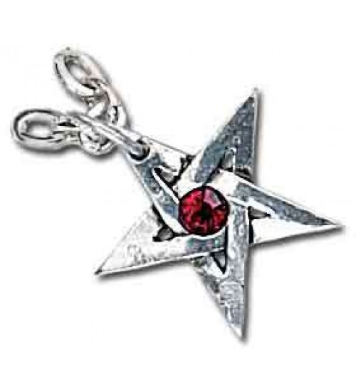 Crystal Pentagram Pewter Necklace at All Wicca Store Magickal Supplies, Wiccan Supplies, Wicca Books, Pagan Jewelry, Altar Statues