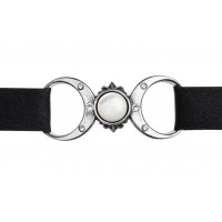 Triple Goddess Pewter Moon Choker