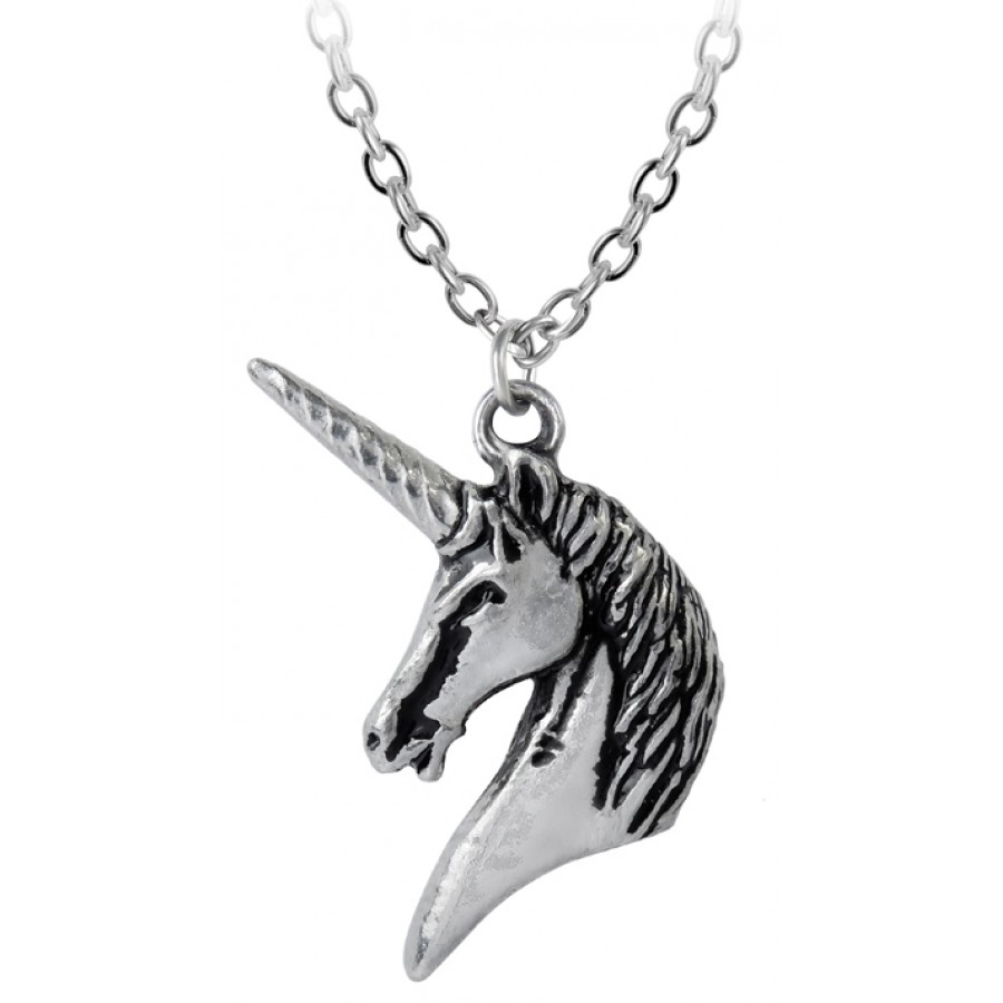 Unicorn pewter pendant with chain fantasy jewelry alchemy gothic unicorn pewter pendant with chain at all wicca supply shop wiccan supplies all wicca aloadofball Choice Image