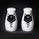 Witches Familiar Black Cat Salt & Pepper Shaker Set