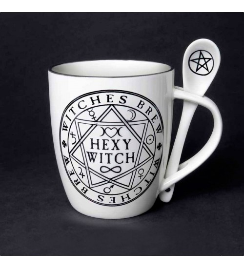Hexy Witch Witches Brew Mug and Spoon Set