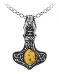 Amber Dragon Thorhammer Pewter Pendant All Wicca Magickal Supplies Wiccan Supplies, Wicca Books, Pagan Jewelry, Altar Statues
