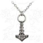Thors Hammer Pewter Amulet Pendant