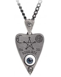 Mystical Ouija Board Planchette Pewter Necklace All Wicca Magickal Supplies Wiccan Supplies, Wicca Books, Pagan Jewelry, Altar Statues