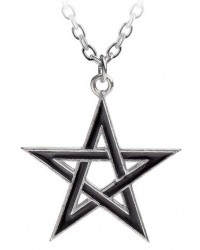 Black Star Pentagram Pendant with Chain