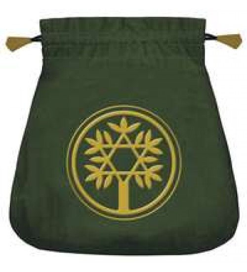 Celtic Green Velvet Tarot Bag at All Wicca Store Magickal Supplies, Wiccan Supplies, Wicca Books, Pagan Jewelry, Altar Statues