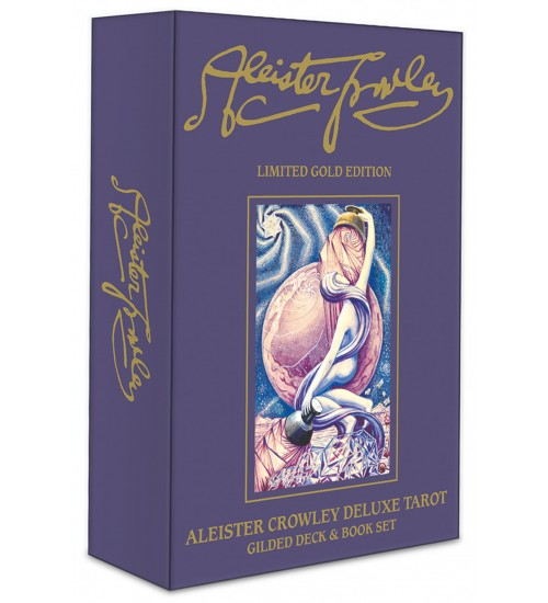 Aleister Crowley Deluxe Tarot: Gilded Set at All Wicca Store Magickal Supplies, Wiccan Supplies, Wicca Books, Pagan Jewelry, Altar Statues
