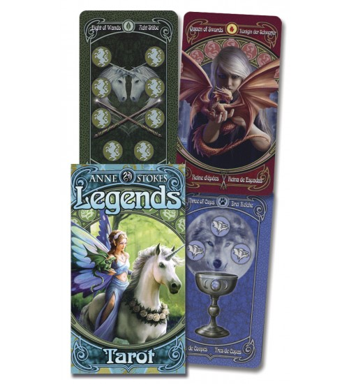 Anne Stokes Legends Tarot Cards Deck at All Wicca Store Magickal Supplies, Wiccan Supplies, Wicca Books, Pagan Jewelry, Altar Statues