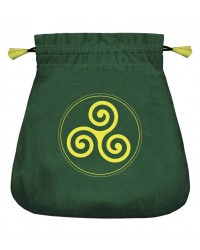 Celtic Triskel Velvet Bag All Wicca Store Magickal Supplies Wiccan Supplies, Wicca Books, Pagan Jewelry, Altar Statues