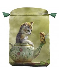 Fantasy Cat Satin Bag All Wicca Store Magickal Supplies Wiccan Supplies, Wicca Books, Pagan Jewelry, Altar Statues