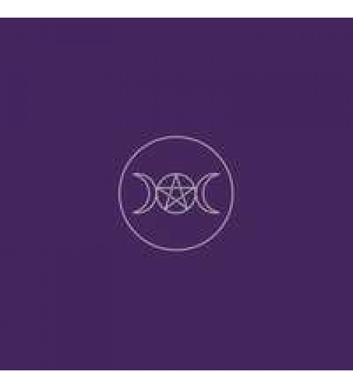 Triple Moon Pentacle Purple Velvet Cloth at All Wicca Store Magickal Supplies, Wiccan Supplies, Wicca Books, Pagan Jewelry, Altar Statues
