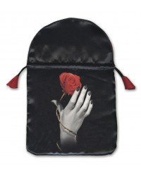 Rose in Hand Satin Tarot Bag All Wicca Store Magickal Supplies Wiccan Supplies, Wicca Books, Pagan Jewelry, Altar Statues