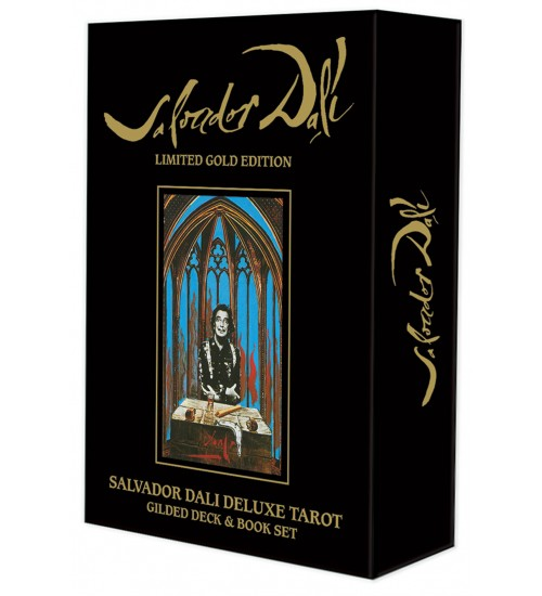 Salvador Dali Deluxe Tarot Cards: Gilded Deck & Book Set at All Wicca Store Magickal Supplies, Wiccan Supplies, Wicca Books, Pagan Jewelry, Altar Statues
