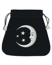 Smiling Moon Embroidered Tarot Bag All Wicca Store Magickal Supplies Wiccan Supplies, Wicca Books, Pagan Jewelry, Altar Statues