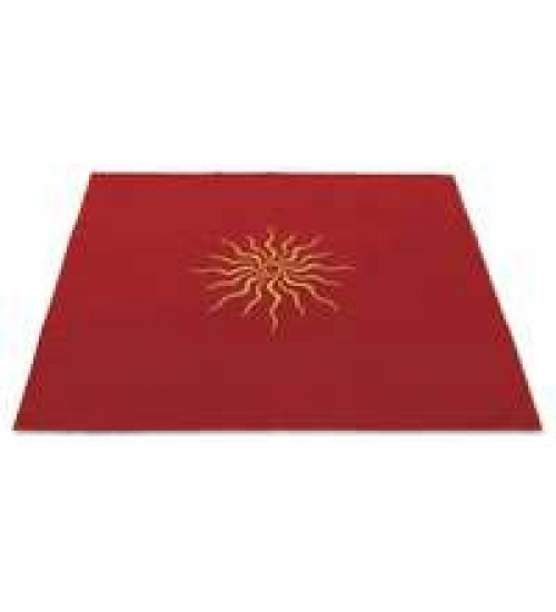 Sun Embroidered Red Velvet Cloth at All Wicca Store Magickal Supplies, Wiccan Supplies, Wicca Books, Pagan Jewelry, Altar Statues