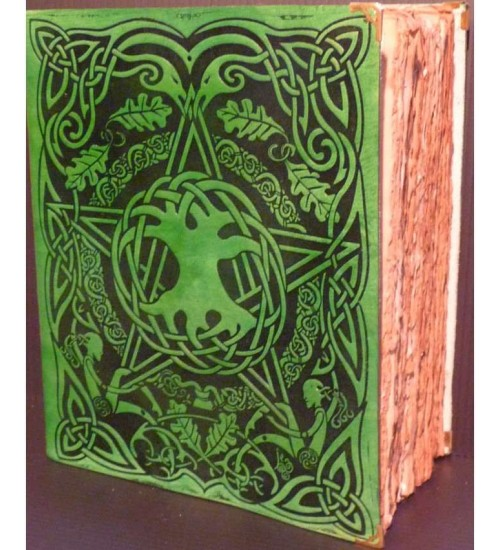 Tree of Life Leather Bound Journal with Antique Parchment at All Wicca, Wiccan Altar Supplies, Books, Jewelry, Statues