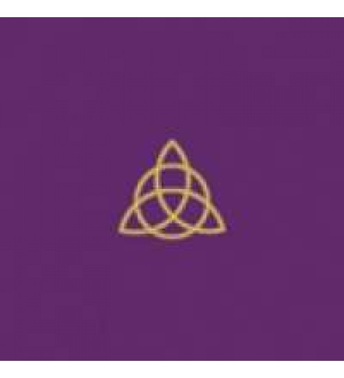 Triquetra Triple Goddess Embroidered Purple Velvet Cloth at All Wicca Store Magickal Supplies, Wiccan Supplies, Wicca Books, Pagan Jewelry, Altar Statues