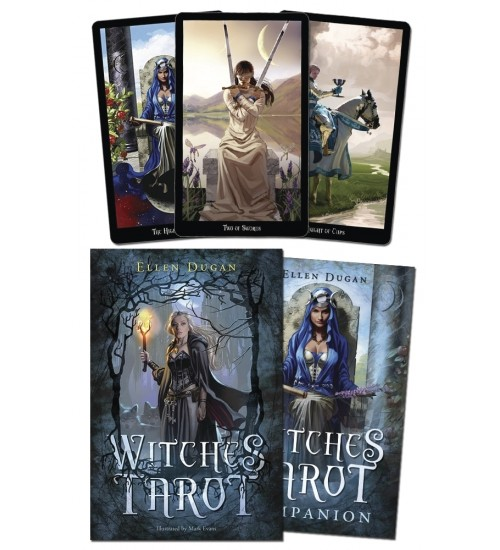 Witches Tarot Deck and Book Set at All Wicca Magical Supplies, Wiccan Supplies, Wicca Books, Pagan Jewelry, Altar Statues
