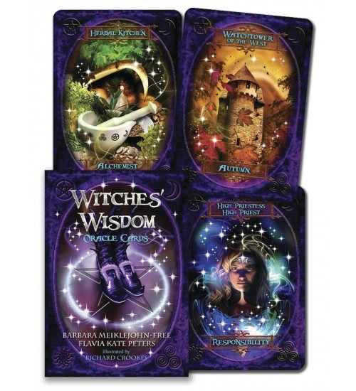 Witches' Wisdom Oracle Cards at All Wicca Store Magickal Supplies, Wiccan Supplies, Wicca Books, Pagan Jewelry, Altar Statues