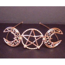 Triple Goddess Large Bronze Circlet All Wicca Wiccan Altar Supplies, Books, Jewelry, Statues