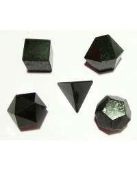Black Tourmaline Sacred Geometry 5 Crystal Set All Wicca Store Magickal Supplies Wiccan Supplies, Wicca Books, Pagan Jewelry, Altar Statues