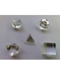 Clear Quartz Sacred Geometry 5 Crystal Set