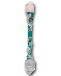 Forgiveness Large Crystal Wand with Chrysocolla